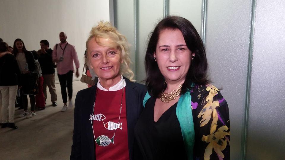 Con Agostina Santini. / 2016.