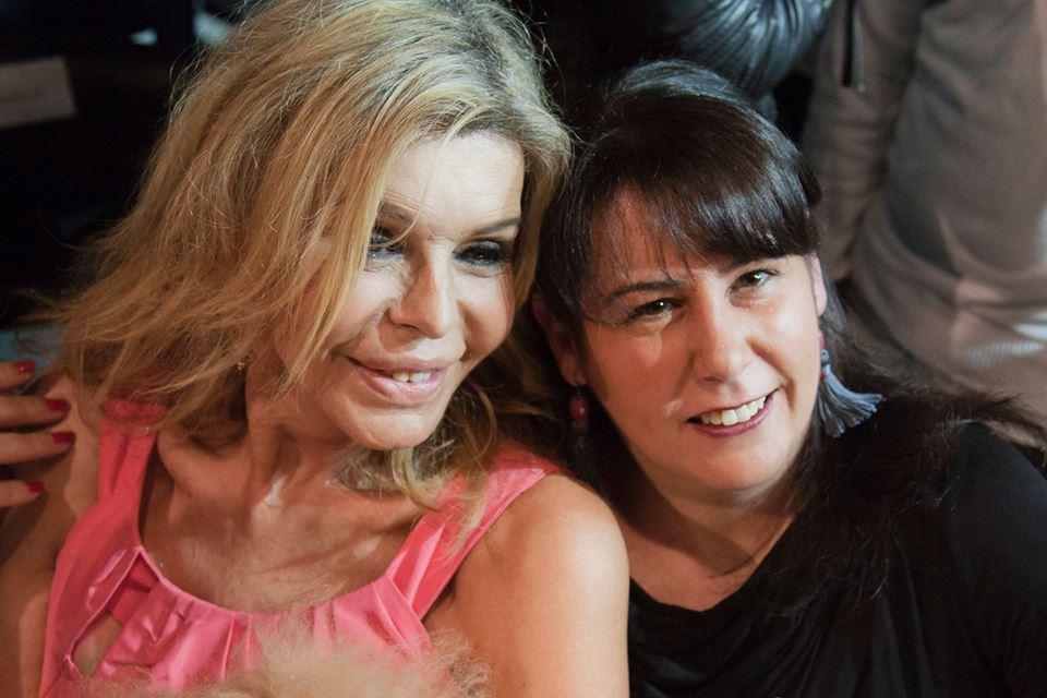 Con Bibiana Fernández. / 2014.