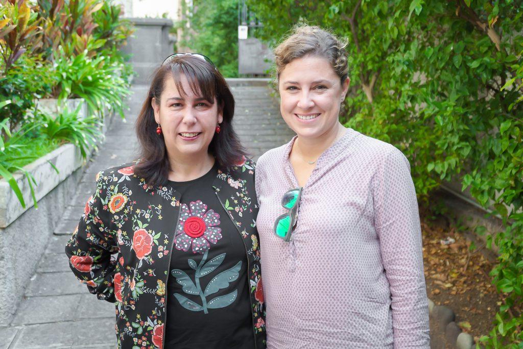 Con María Ortega, directora de producción de Sastrería Cornejo. 2016