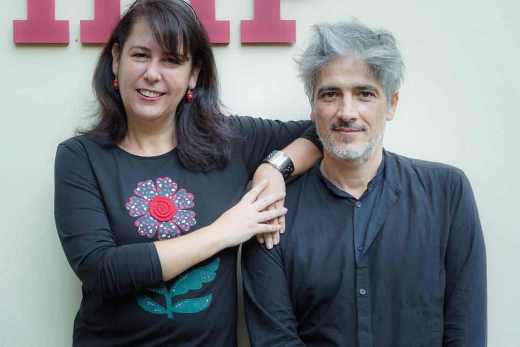 Con el diseñador Josep Abril. / 2016.