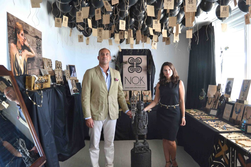 Alejandra junto a su marido, Guillermo Meca, pilar de la firma.