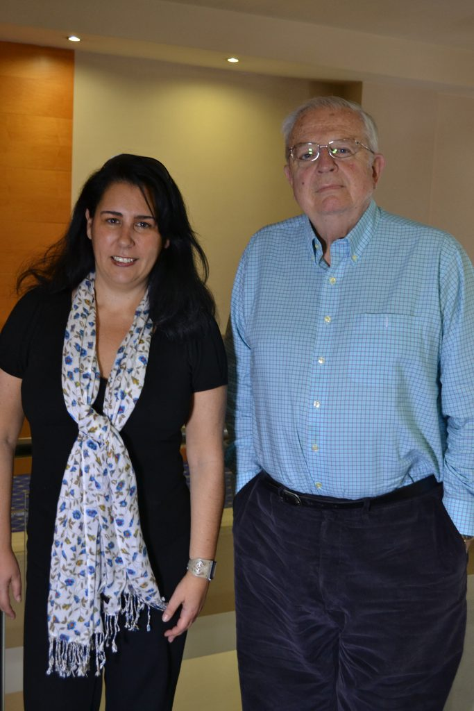 Con Enrique Loewe. 2011.