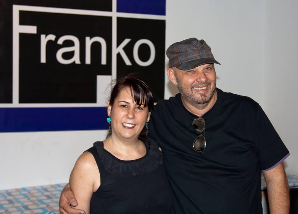 Con el estilista Frank'o. / 2014.