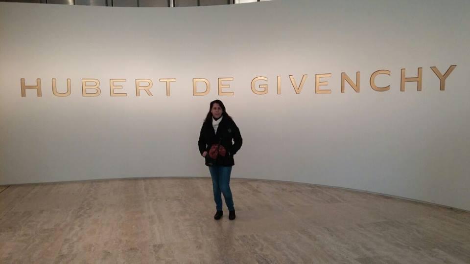 En la exposición de Givenchy. Museo Thyssen- / 2015.