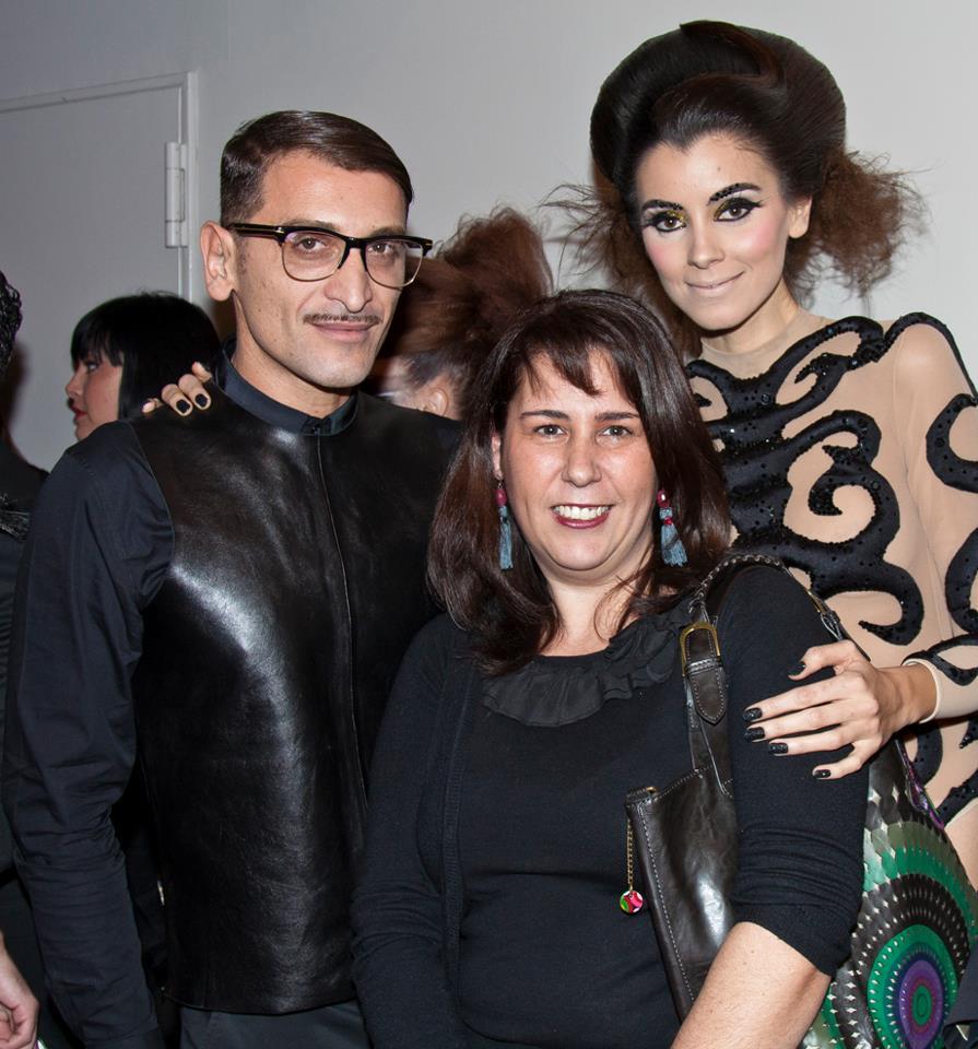 Con el estilista Juan Castañeda. / 2013.
