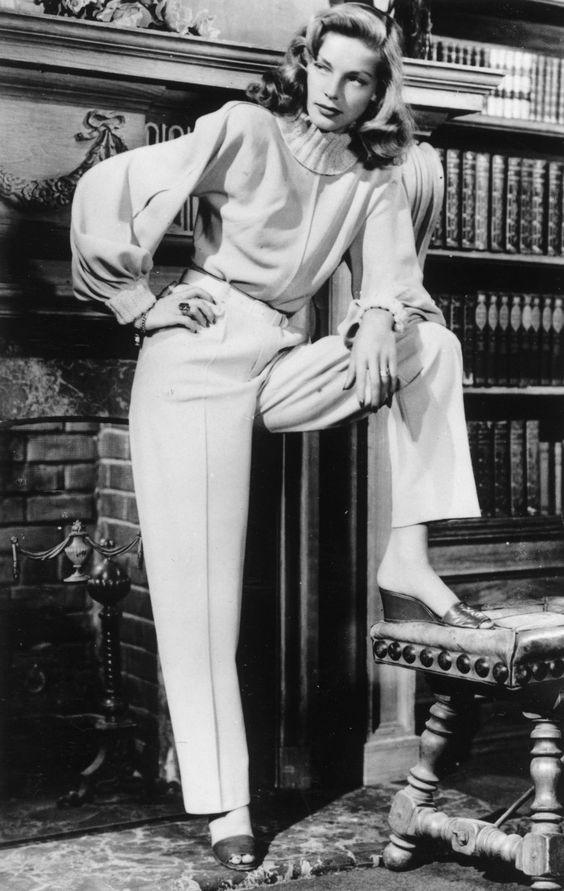 Lauren Bacall.