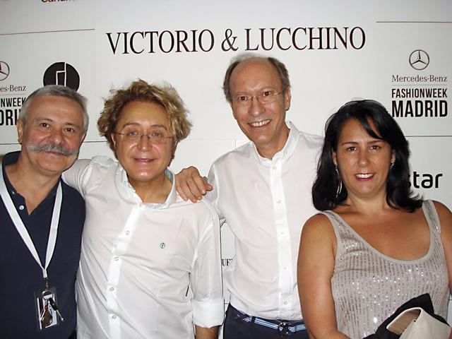 Con Victorio y Lucchino y el crítico Pedro Mansilla en Cibeles / 2012.