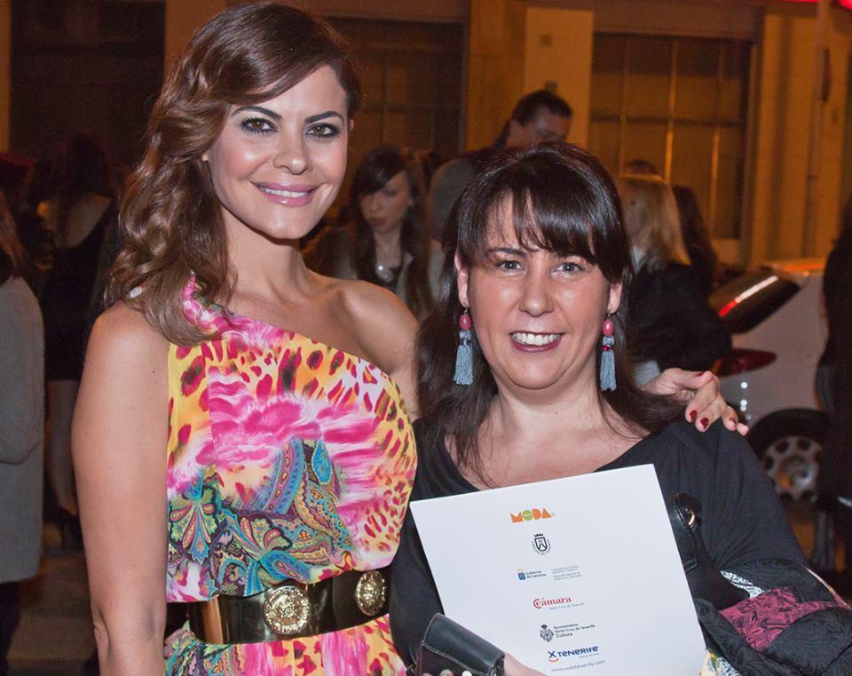 Con María José Suárez. / 2014.