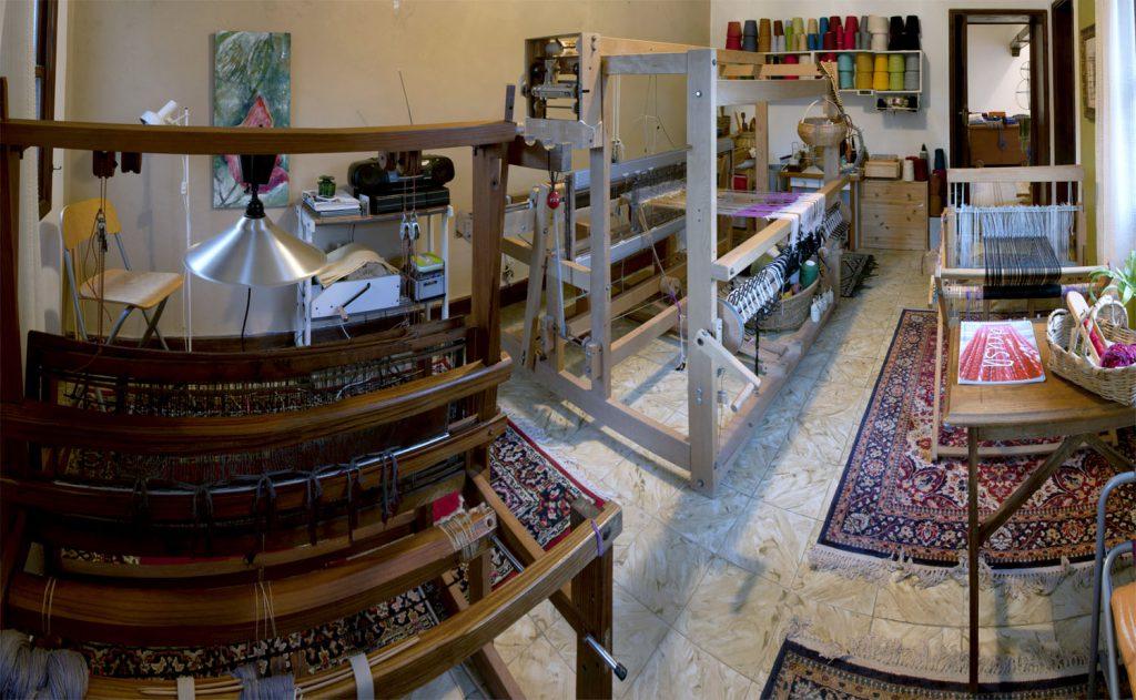Panorámica del taller lagunero de Trama Textil. / Foto: David Domínguez.