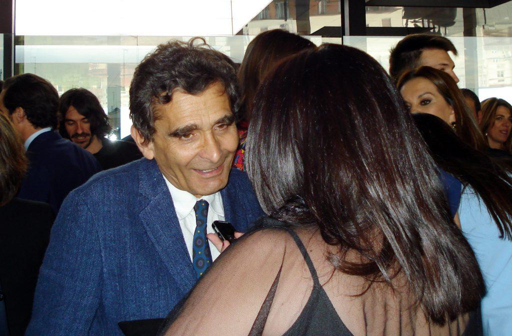 Entrevistando a Adolfo Domínguez en los Premios de la Moda. / 2014.