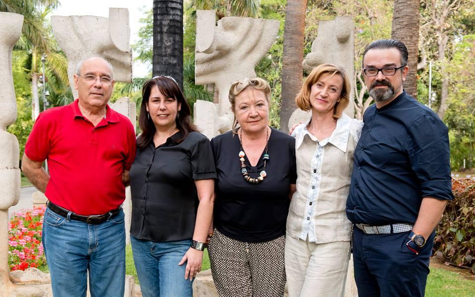 Con los fundadores de Tenerife Moda. / 2015.