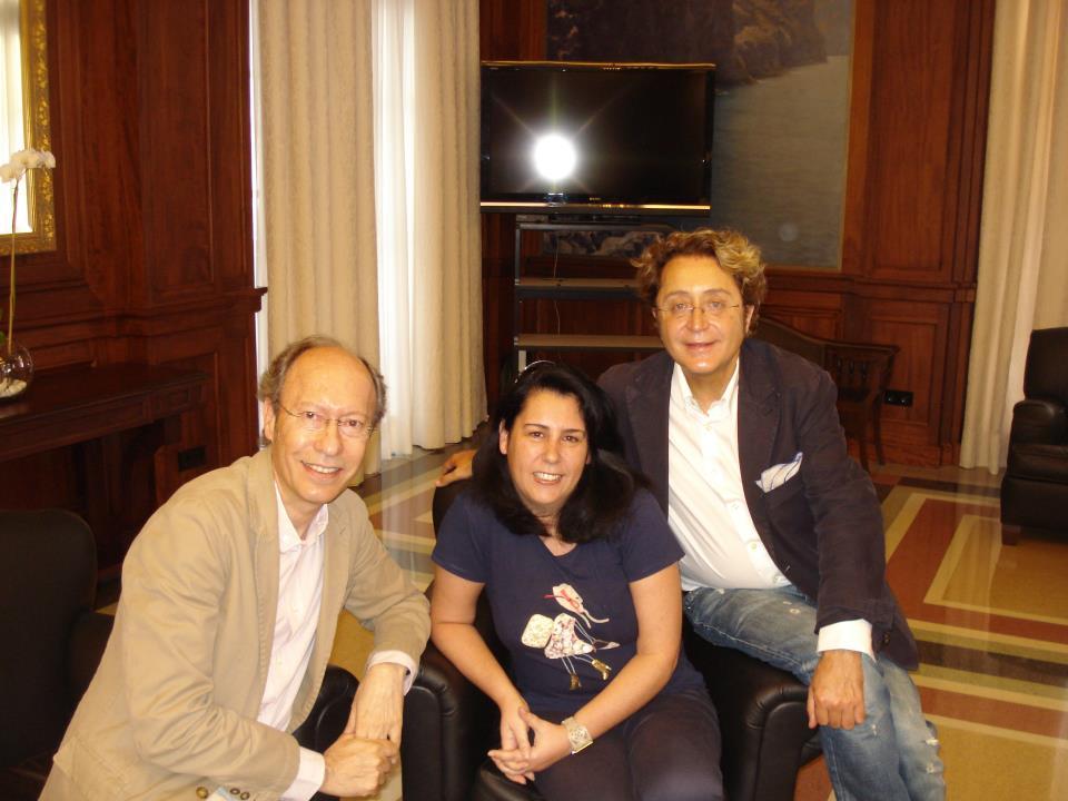 Tras entrevistar a Vitorio&Lucchino. / 2012.