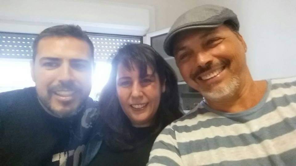 Selfie con Juan Gil y Juan Carlos Armas. / 2014.