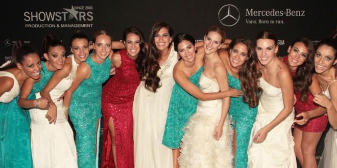 Las ganadoras del certamen Showstar Models en la pasada edición de la pasarela MBFW de Düsseldorf.