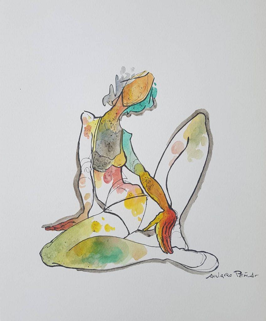 Pensativa. Por Álvaro Peña