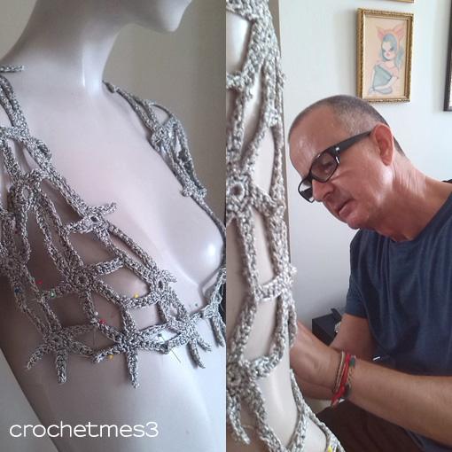 Mestres presenta su colección a ganchillo en la Feria de la Moda de Tenerife